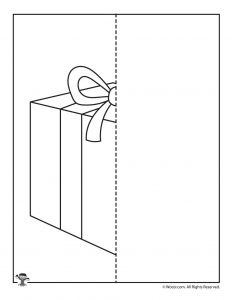 Christmas Present Symmetry Drawing Worksheet