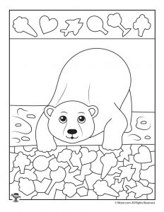 Polar Bear I Spy Printable Worksheet