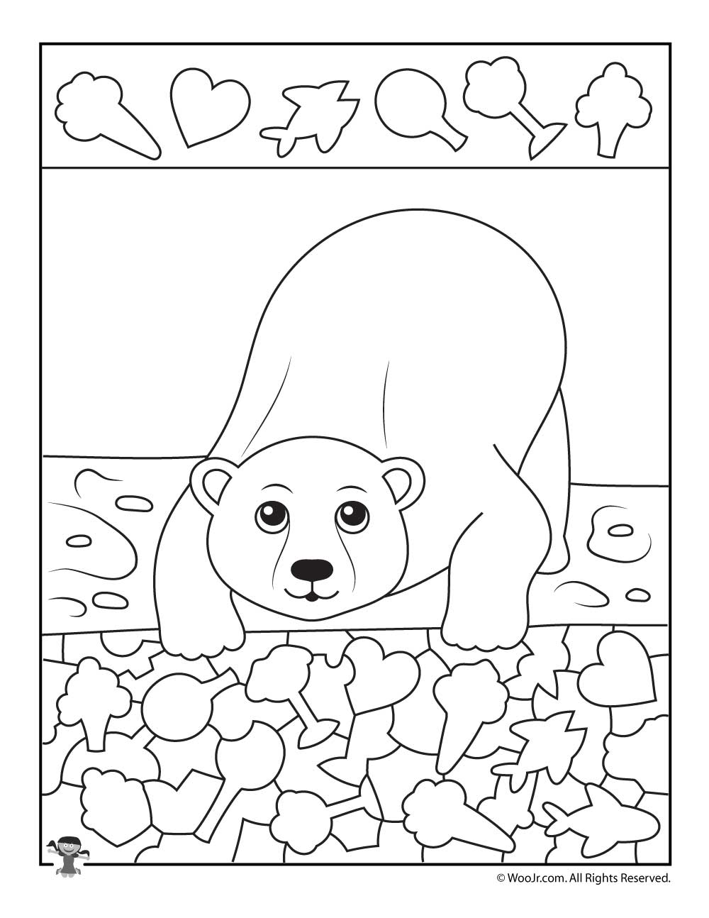picture relating to I Spy Printable Worksheets named Polar Undergo I Spy Printable Worksheet Woo! Jr. Little ones Pursuits