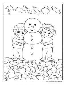 Winter Hidden Pictures Coloring Pages Woo Jr Kids Activities