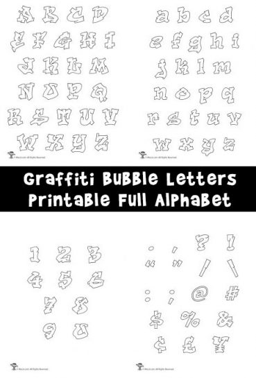 Printable Graffiti Bubble Letters Alphabet