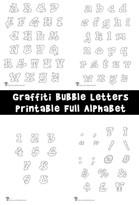 Printable Bubble Letters Outer Space Letters Woo Jr Kids Activities