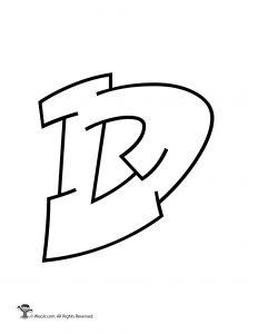 Graffiti Capital Letter D