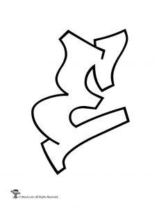 Graffiti Capital Letter E