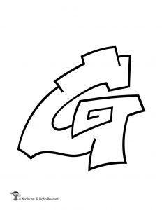 Graffiti Capital Letter G