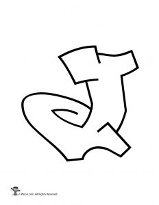 Graffiti Capital Letter J
