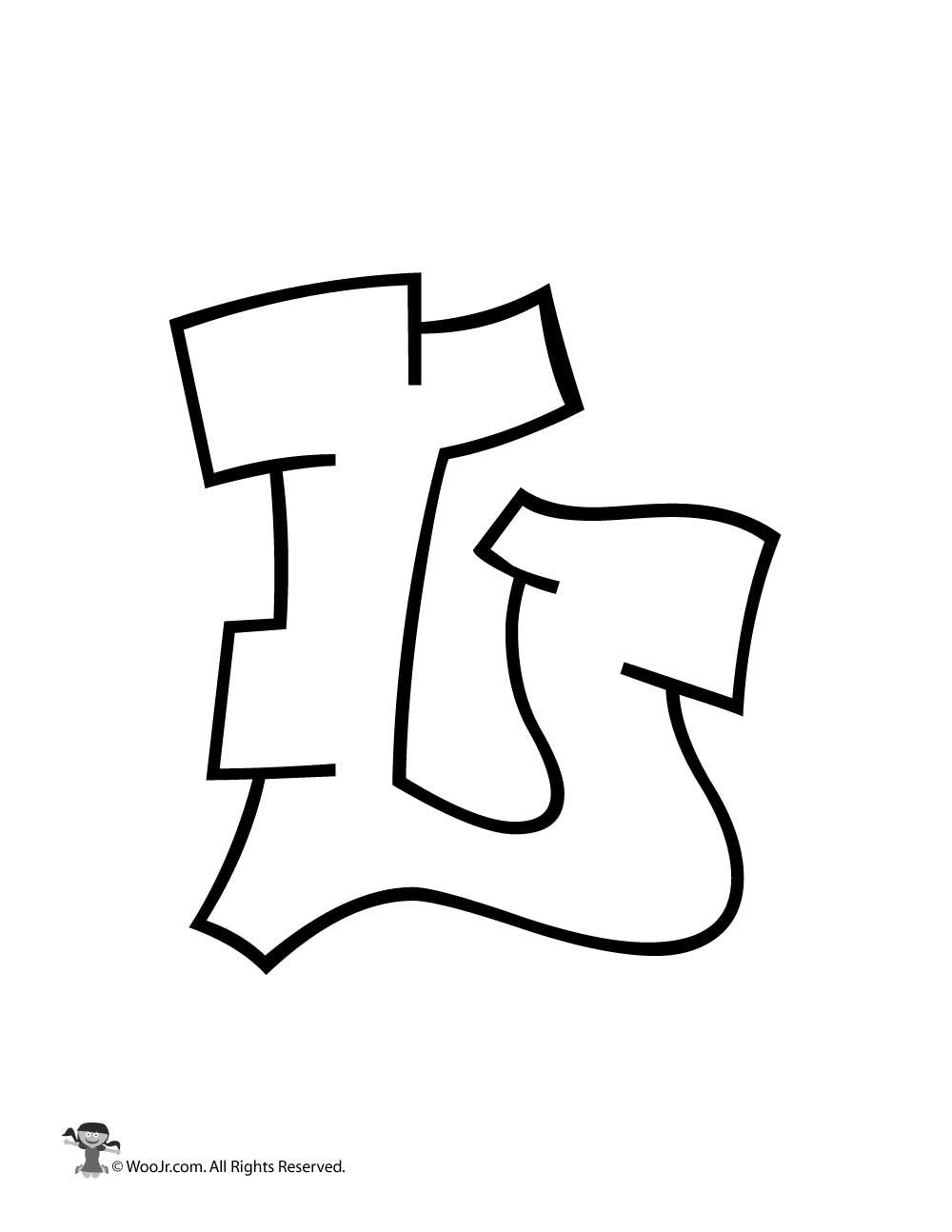 Graffiti Capital Letter L Woo Jr Kids Activities