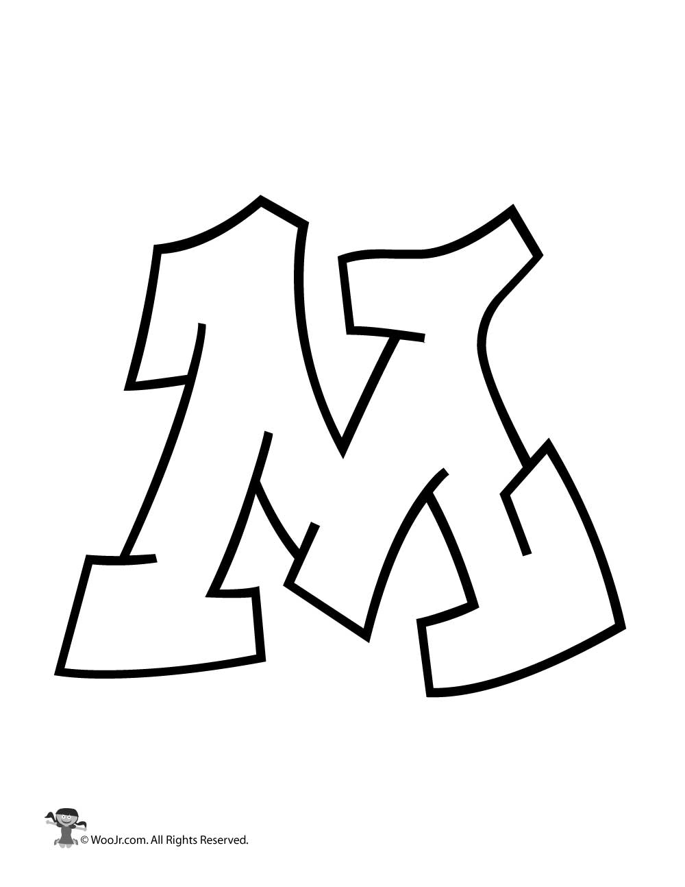 graffiti capital letter m