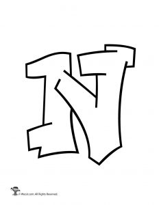 Graffiti Capital Letter N
