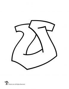 Graffiti Capital Letter O