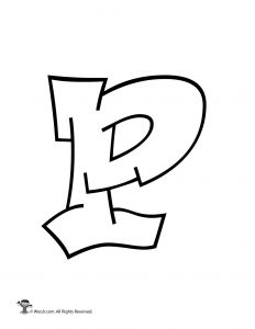 Graffiti Capital Letter P