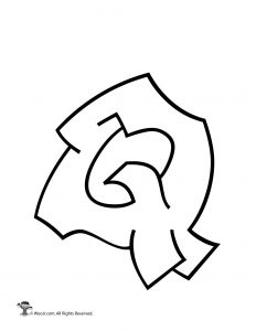 Graffiti Capital Letter Q