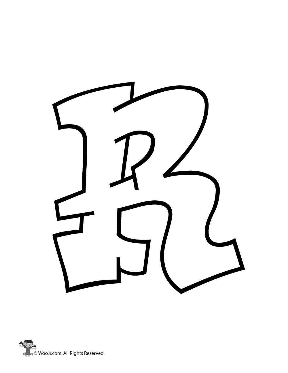 graffiti capital letter r