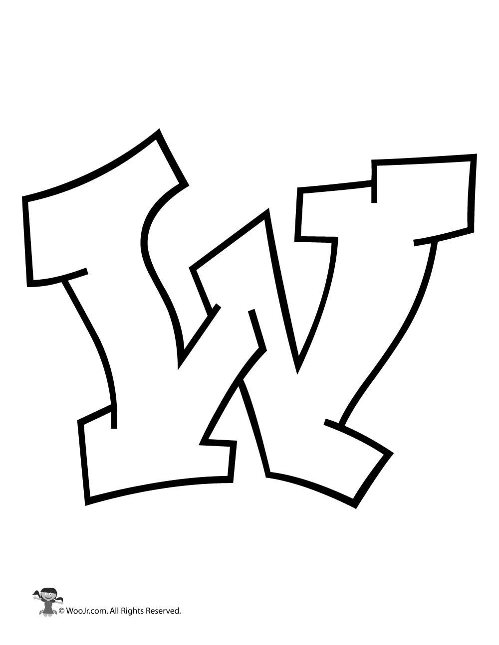 Graffiti Capital Letter W | Woo! Jr. Kids Activities