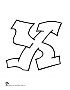 Graffiti Capital Letter X