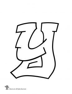 Printable Graffiti Bubble Letters Alphabet | Woo! Jr. Kids ... Y Graffiti Letters