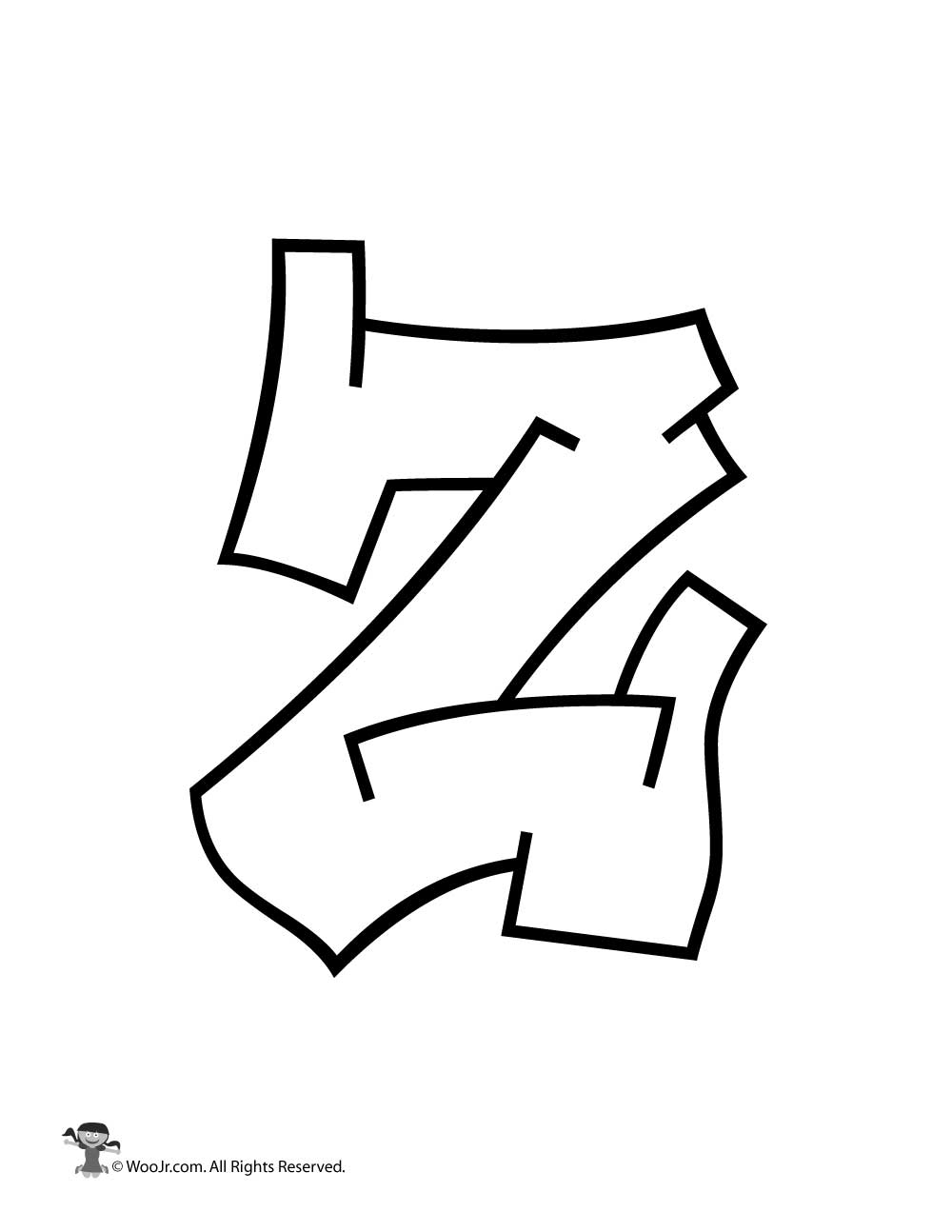 Graffiti Capital Letter Z | Woo! Jr. Kids Activities