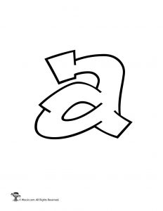 Graffiti Lowercase Letter a