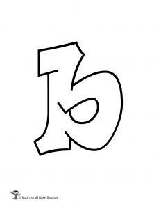 Graffiti Lowercase Letter b
