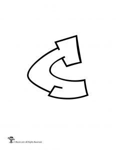 Graffiti Lowercase Letter c