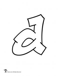 Graffiti Lowercase Letter d