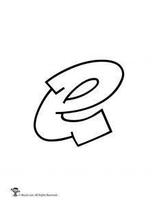 Graffiti Lowercase Letter e