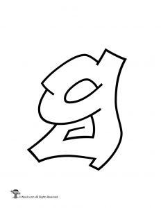 Graffiti Lowercase Letter g
