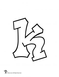 Graffiti Lowercase Letter k