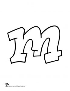 Graffiti Lowercase Letter m