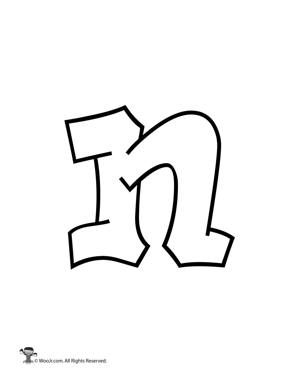 Graffiti Lowercase Letter N