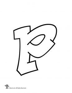 Graffiti Lowercase Letter p