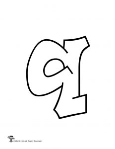 Graffiti Lowercase Letter q