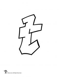 Graffiti Lowercase Letter t