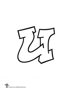 U Graffiti Letters Printable Graffiti Bub...