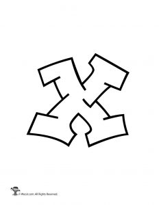 Graffiti Lowercase Letter x