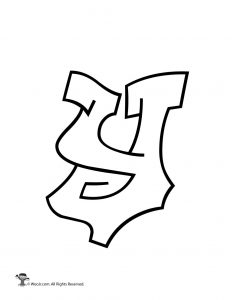Graffiti Lowercase Letter y