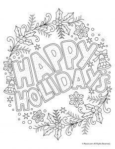 adult coloring page christmas dove happy holidays adult coloring freebie