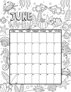 Printable Coloring Calendar for 2019 (and 2018!) | Woo! Jr