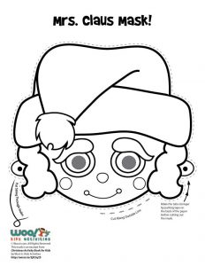 Mrs. Claus Printable Mask