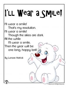 I'll Wear a Smile Short New Years Poem