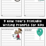 New Year's Printable Writing Prompts for Kids
