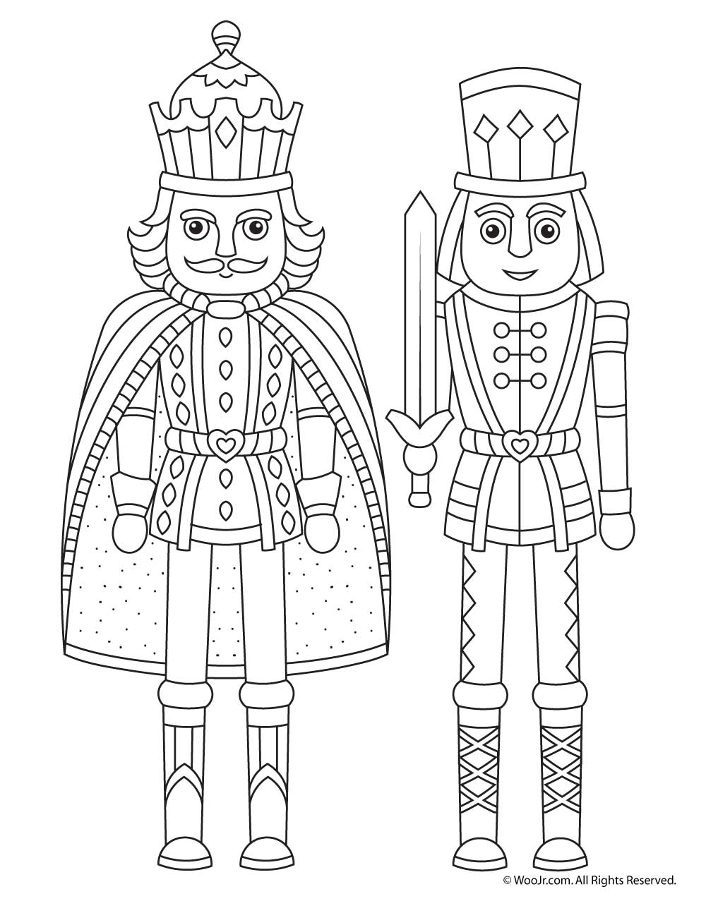 nutcracker christmas coloring page woo jr kids activities
