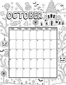 Printable Coloring Calendar For 2020 And 2019 Woo Jr