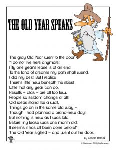 The Old Year Speaks Poetry for Kids