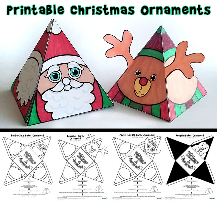 photo relating to Printable Santa Claus titled Printable Xmas Ornaments Woo! Jr. Children Pursuits