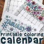 Printable Coloring Calendar for 2020 (and 2019!)