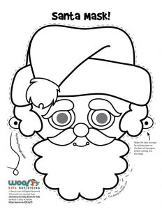 Santa Claus Mask to Color