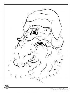 Santa Claus Connect the Dots Printable