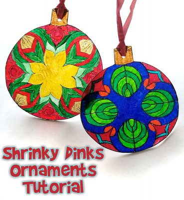Shrinky Dinks Christmas Craft Ornament
