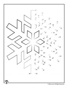 Snowflake Dot to Dot Activity Sheet